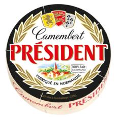 PRESIDENT Camembert au lait pasteurisé fabriqué en Normandie 250g