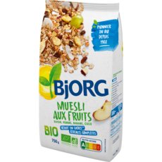 BJORG Muesli de céréales bio aux fruits 750g