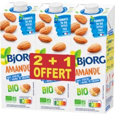 BJORG Lait d'amande calcium bio 2x1l +1l 3l