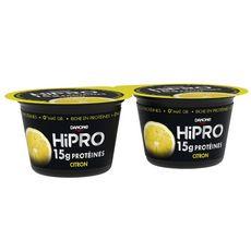 HIPRO Yaourt protéiné 0% MG saveur citron 2x160g