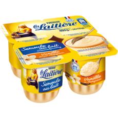 LA LAITIERE Semoule au lait à la vanille 4x115g