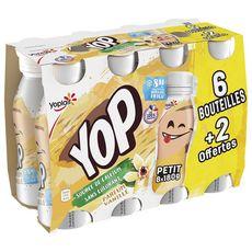 PTIT YOP Yaourt a boire à la vanille 6+2 Offertes 8X180g