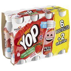 PTIT YOP Yaourt a boire à la fraise 6+2 offertes 8X180g