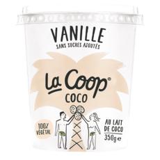 LA COOP Dessert végétal au lait de coco vanille sans sucres ajoutés 350g