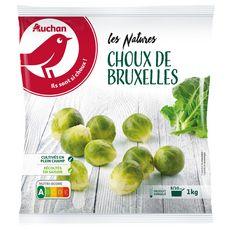 AUCHAN Choux de Bruxelles 1kg