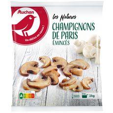 AUCHAN Champignons de Paris émincés 1kg