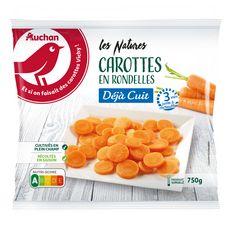 AUCHAN Carottes en rondelles 5 portions 750g
