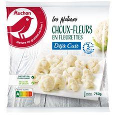 AUCHAN Choux-fleurs en fleurettes minute 3-4 portions 750g