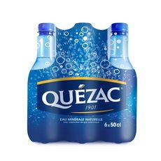 QUEZAC Eau minérale pétillante naturelle bouteilles 6x50cl