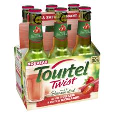 TOURTEL Bière sans alcool 0.0% au jus de fraise et note de rhubarbe  6x27.5cl