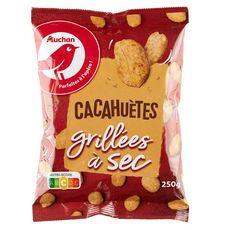 AUCHAN Cacahuètes grillées à sec 250g