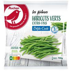 AUCHAN Haricots verts déjà cuit 5 portions 750g