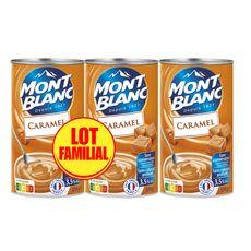 MONT BLANC Crème dessert saveur caramel lot familial 3x570g
