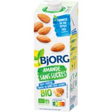 BJORG Lait d'amande calcium bio sans sucres ajoutés 1l
