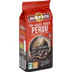 ALTER ECO Café bio moulu bio équitable 100% Arabica du Pérou 260g