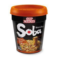 NISSIN Soba cup noodles Sukiyaki Bœuf 89g