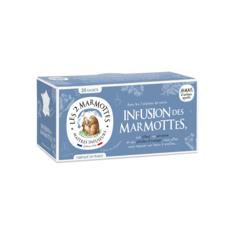 LES 2 MARMOTTES Infusion des marmottes, tilleul verveine menthe hibiscus camomille 30 sachets 48g