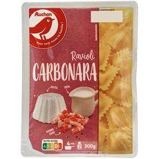 AUCHAN Ravioli carbonara 2 portions 300g