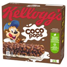 KELLOGG'S Coco Pops Barres de céréales 6 barres 120g