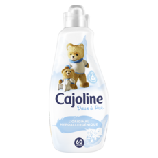 CAJOLINE Assouplissant doux & pur hypoallergénique 60 lavages 1,5l