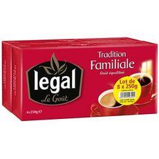 LEGAL Café moulu tradition familiale  8x250g