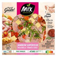 MIX Pizza gusto jambon supérieur mozzarella et tomate cerise 380g