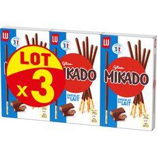 MIKADO Biscuits bâtonnets au chocolat au lait 3x90g