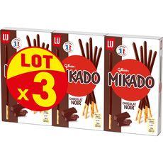 MIKADO Biscuits au chocolat noir bâtonnets 3x90g