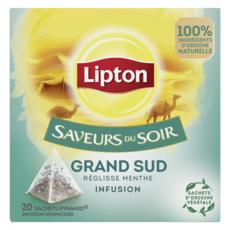 LIPTON Infusion saveurs du soir grand sud réglisse menthe 20 sachets 32g