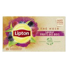 LIPTON Thé noir fruit des bois 25 sachets 40g