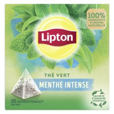 LIPTON Thé vert fresh menthe intense 20 sachets 34g