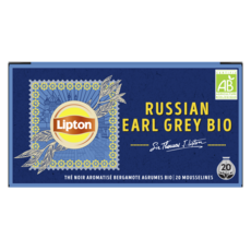 LIPTON Thé noir russian earl grey bio 20 sachets 34g