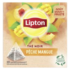 LIPTON Thé noir pêche mangue 20 sachets 36g