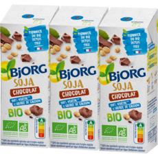 BJORG Boisson soja chocolat calcium bio 3x25cl