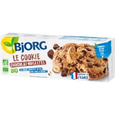 BJORG Cookies bio chocolat noisettes, sans huile de palme 200g