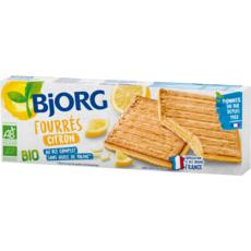 BJORG Biscuits bio fourrés au citron 3x3 biscuits 225g