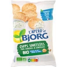 BJORG L'Apéro Bio Chips soufflées pois chiches lentilles 80g