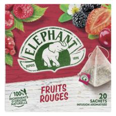 ELEPHANT Infusion fruits rouges 20 sachets 36g
