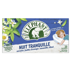 ELEPHANT Infusion nuit tranquille 25 sachets 80g