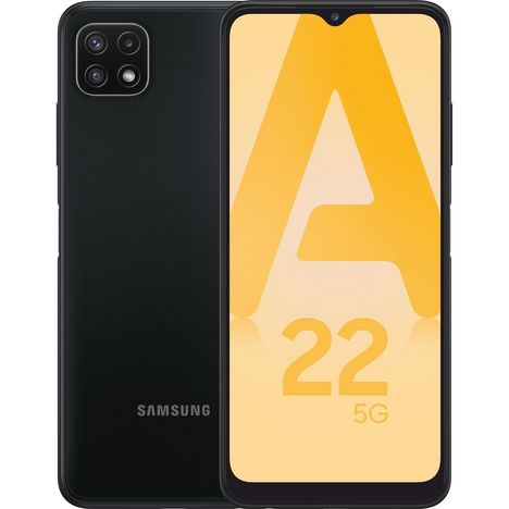 SAMSUNG Smartphone Galaxy A22  5G  128 Go  6.6 pouces  Gris  Double Nano Sim