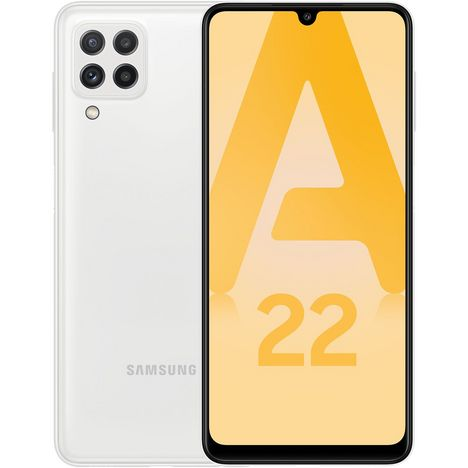 SAMSUNG Smartphone Galaxy A22  4G  64 Go  6.4 pouces  Blanc  Double Nano Sim