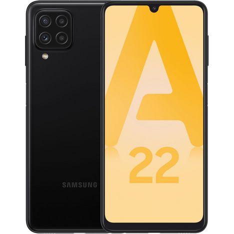 SAMSUNG Smartphone Galaxy A22  4G  64 Go  6.4 pouces  Noir  Double Nano Sim