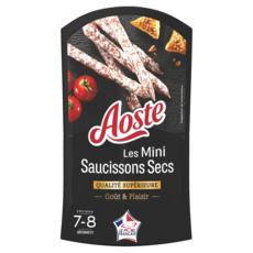 AOSTE Les Mini Saucissons secs  7-8 bâtonnets  80g