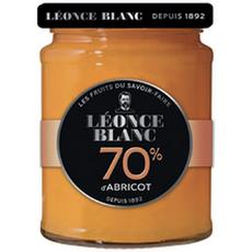 LEONCE BLANC Confiture d'abricot 70 % bocal  320g