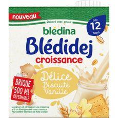 BLEDINA Blédidej céréales lactées biscuité vanille dès 12 mois 500ml