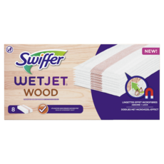 SWIFFER Wet Jet wood Lingettes effet microfibres 8 lingettes