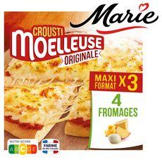 MARIE Pizza crousti moelleuse 3 fromages 3 pièces 1,17kg
