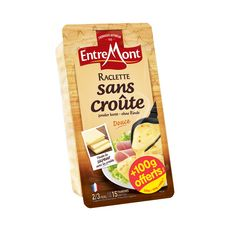 ENTREMONT Fromage a raclette sans croûte. 15 tranches 350+100g offerts