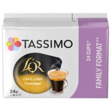 TASSIMO Dosettes de café L'Or espresso café long classique 24 dosettes 156g