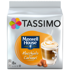 TASSIMO Dosettes de café Maxwell House machiato gôut caramel 8 dosettes 268g